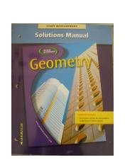 9780078602047: Geometry, Solutions Manual