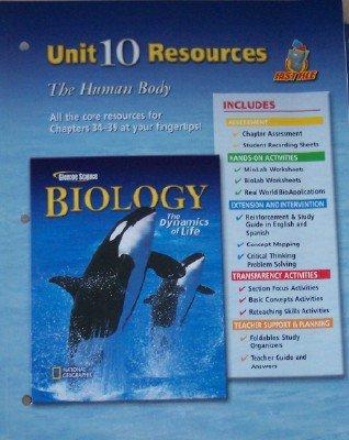 Biology the Dynamics of Life Unit 10: GLENCOE MCGRAW HILL