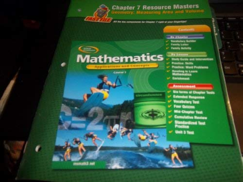 Mathematics: Applications and Concepts, Course 3, Chapter 7 Resource Masters (9780078602542) by McGraw-Hill