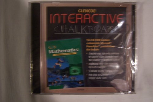 9780078602719: Interactive Chalkboard Glencoe Mathematics Applications and Concepts Course 3