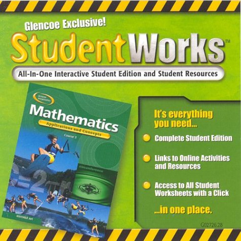 9780078602726: Mathematics: Applications and Concepts, Course 3, StudentWorks CD-ROM
