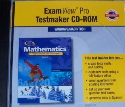 ExamView Pro Testmaker: Mathematics, Applications and Concepts,: Hill/Glencoe, McGraw