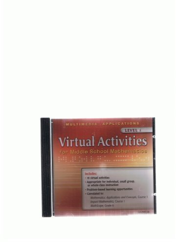 9780078602948: Virtual Activities: for Middle School Mathematics Level 1