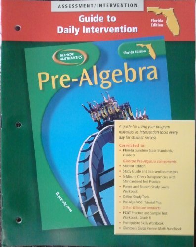 9780078603778: PRE-ALGEBRA Florida Edition: Assessment/Intervention...(Guide to Daily Intervention)