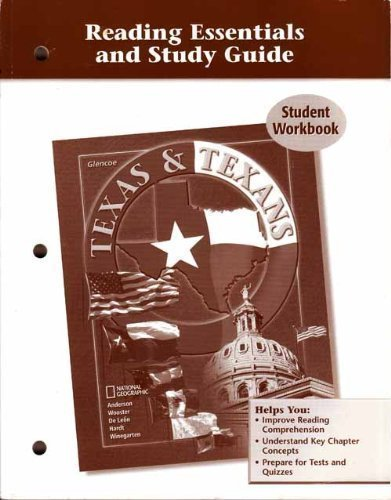 9780078605338: Texas & Texans (Reading Essentials and Study Guide Student Workbook)