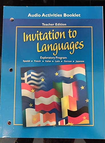 9780078605819: Invitation to Languages Audio Activities