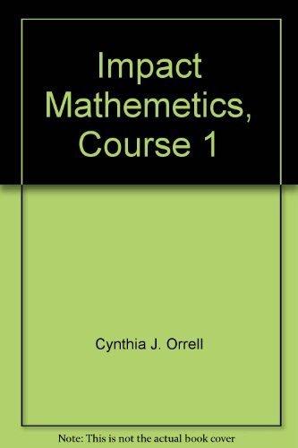 9780078609107: Impact Mathematics Algebra and More Teacher's Guide Volume A (Course 1)
