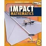 9780078609305: IMPACT Mathematics: Course 3: Volume A - Teacher's Edition Grade 8