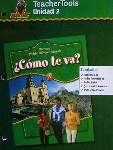 9780078609633: Glencoe Middle School Spanish C < Mo TE Va? A, Nivel Verde Unidad 2