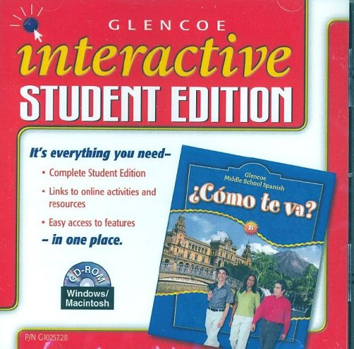 9780078610257: Glencoe Middle School Spanish: ¿Cómo te va? B Nivel azul, Interactive Student Edition CD-ROM