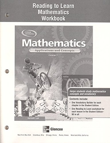Mathematics: Applications and Concepts, Course 1, Reading to Learn Mathematics Workbook (9780078610578) by McGraw-Hill