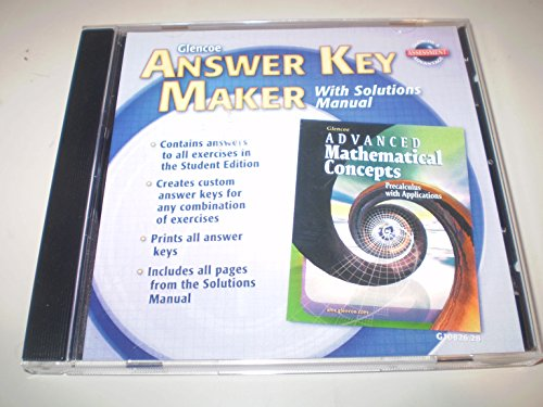 9780078610820: Answer Key Maker (Glencoe Advanced Mathematical Concepts: Precalculus with Applications)