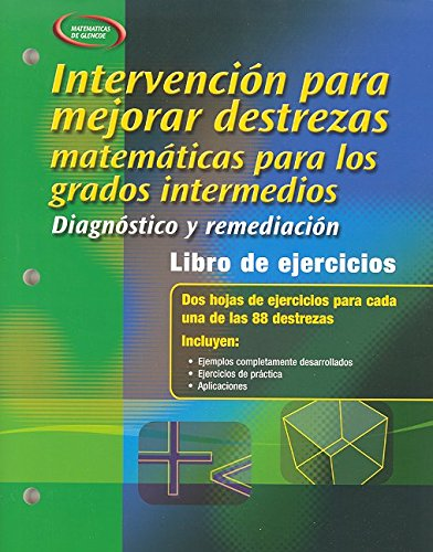 9780078613067: Skills Intervention for Middle School Mathematics: Diagnosis and Remediation, Spanish Student Workbook (Spanish Edition)