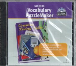 9780078615948: 2006 Glencoe Creative Living Skills Vocabulary Puzzlemaker CD
