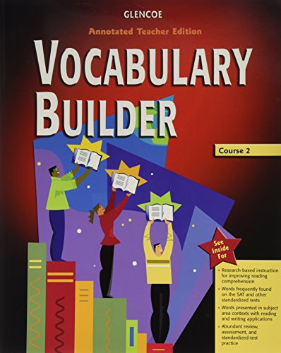 Vocabulary Builder, Course 2, Annotated (9780078616631) by Glencoe McGraw-Hill