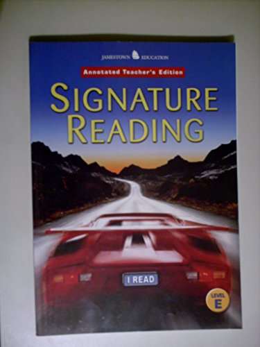 9780078617195: Signature Reading, Level E (Jamestown Education) Annotated Teacher's Edition