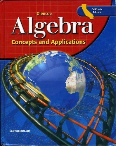 9780078618017: Algebra Concepts and Applications California Edition