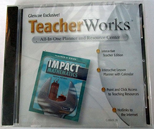 9780078618604: TeacherWorks CD-ROM All-In-One Planner and Resource Center (Glencoe Impact Mathematics Algebra And More Course 1)