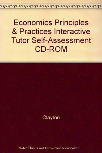 9780078619120: Economics Principles & Practices Interactive Tutor Self-Assessment CD-ROM