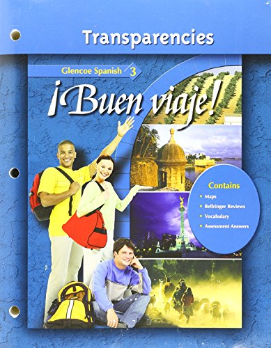 9780078620027: Transparency Binder Buen Viaje Glencoe Spanish 3 Three