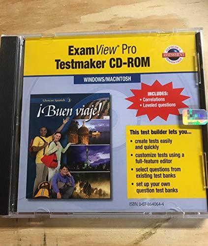 9780078640643: ExamView Pro Testmaker CD-ROM for Buen viaje! (Glencoe Spanish 3)