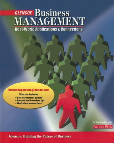 Business Management: Real-World Applications and Connections, Student Edition (9780078650178) by McGraw-Hill