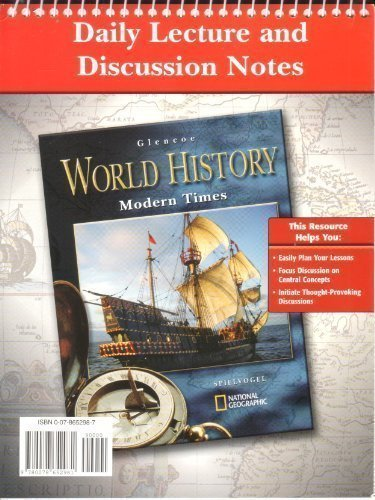 9780078652981: Daily Lecture and Discussion Notes for World History: Modern Times