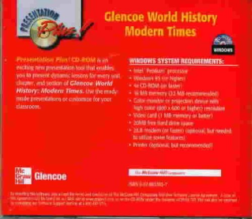 9780078653032: Glencoe World History Modern Times - Presentation Plus