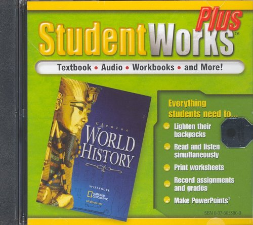 9780078653803: Glencoe World History, StudentWorks Plus CD-ROM (WORLD HISTORY (HS)) (English and Spanish Edition)