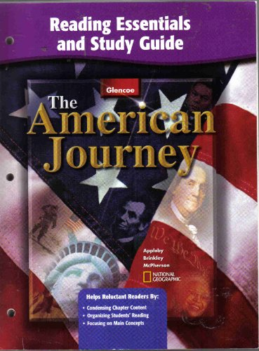 9780078655470: The American Journey: Spanish Reading Essentials and Study Guide