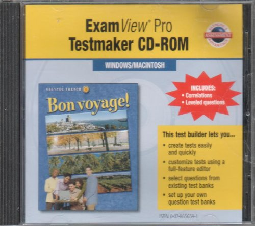 Glencoe Bon Voyage! ExamView Pro Testmaker: Glencoe McGraw-Hill