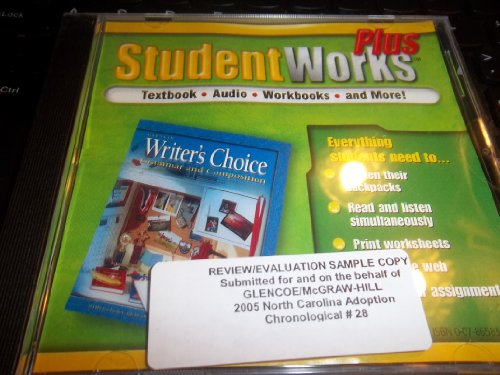 Glencoe Writer's Choice - Grammar and Composition Grade 6: Student Works Plus (9780078658365) by [???]
