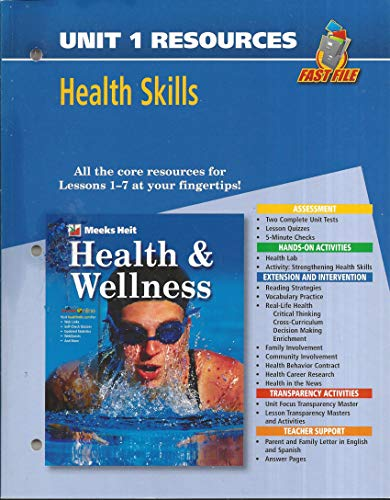 9780078658747: Fast File Unit Resources - Unit 1: Health Skills (Health and Wellness)