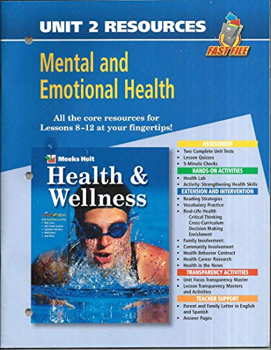 9780078658754: Fast File Unit Resources - Unit 2: Mental and Emotional Health (Health and Wellness)