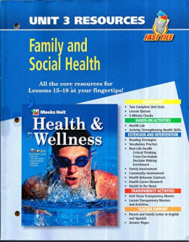 9780078658761: Fast File Unit Resources - Unit 3: Family and Social Health (Health and Wellness)