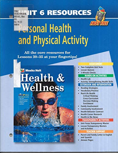 9780078658792: Fast File Unit Resources - Unit 6: Personal Health and Physical Activity (Health and Wellness)