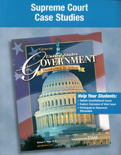 9780078659225: Glencoe United States Supreme Court Case Studies