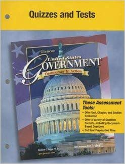 9780078659249: United States Gov Democracy in Action Quizzes and Tests 2006