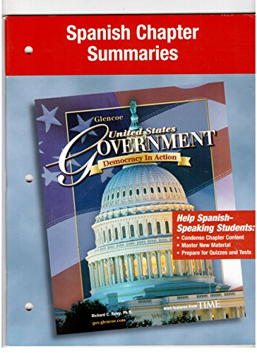 9780078659270: Spanish Chapter Summaries (United States Government, Democracy in Action)