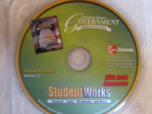 9780078659362: United States Government, Democracy in Action, StudentWorks CD-ROM (GOVERNMENT IN THE U.S.)