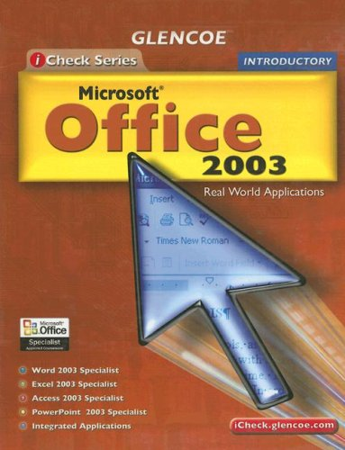 9780078659492: iCheck Series: Microsoft Office 2003, Introductory, Student Edition (ACHIEVE MICROSOFT OFFICE 2003)