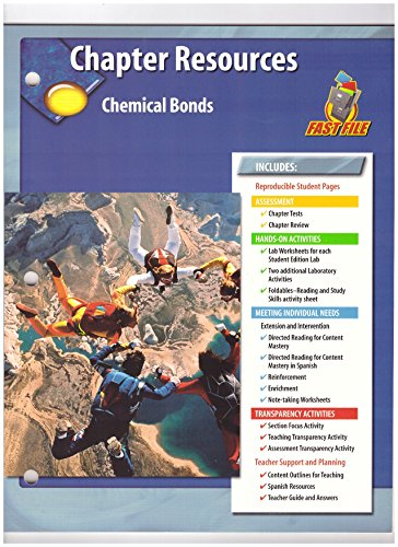 9780078660740: GLencoe Fast File Chapter Resources Chemical Bonds. (Paperback)