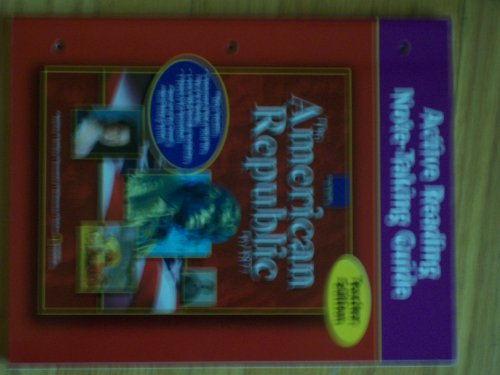9780078662522: The American Republic (To 1877) Active Reading Note-taking Guide Teacher Edition