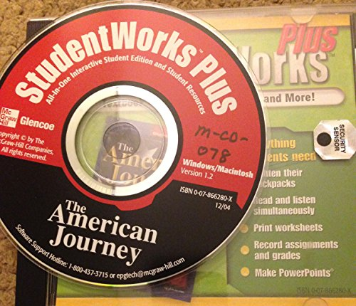 9780078662812: THE AMERICAN JOURNEY student works PLUS FLORIDA EDITION (TEXT AUDIO WORKBOOKS AND MORE)