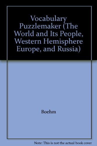 Vocabulary Puzzlemaker (The World and Its People, Western Hemisphere Europe, and Russia) (0078663261) by Boehm