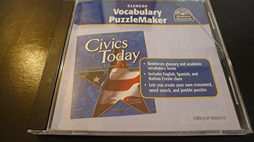 "9780078665349: Vocabulary PuzzleMaker for Glencoe ""Civics Today: Citizenship, Economics, & You"""