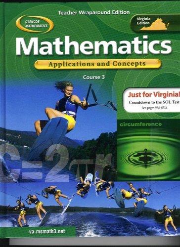 9780078668517: Mathematics: Applications and Concepts, Course 3 - Teacher Wraparound Edition (Virginia Edition) (Gl