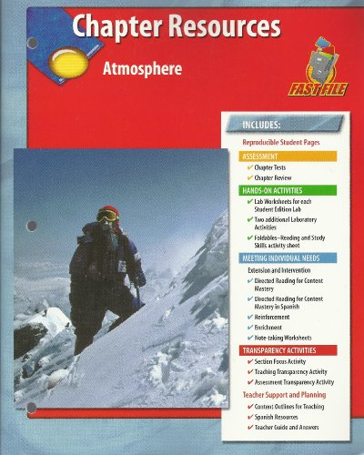 9780078669521: Chapter Resources, Atmosphere Glencoe Science Fast File