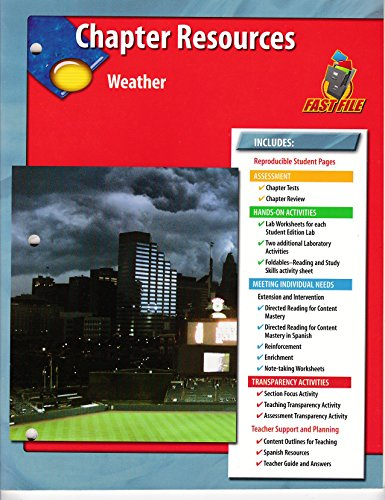 9780078669538: Weather Chapter Resources Glencoe Science Fast File