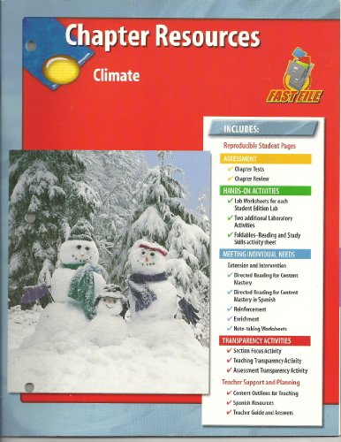 9780078669545: Chapter Resources Climate Glencoe Science Fast File